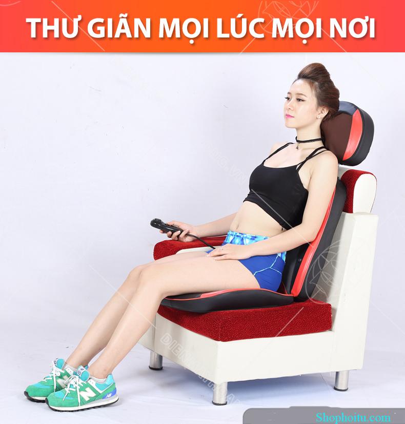 Đệm ghế massage toàn thân hồng ngoại  Kimura