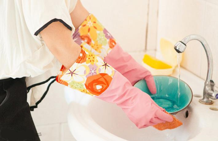 Combo 02 đôi găng tay rửa bát lót nỉ