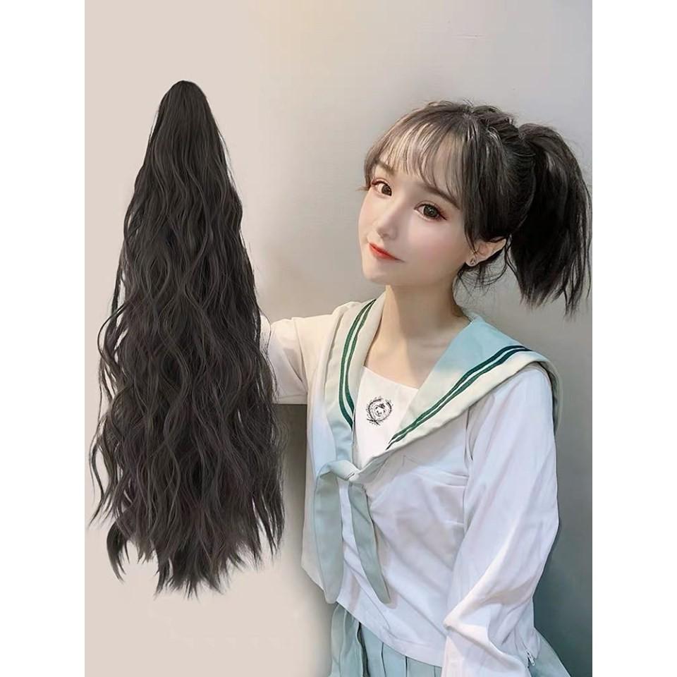 Tóc  Giả Nữ Ngoạm Xù 50cm