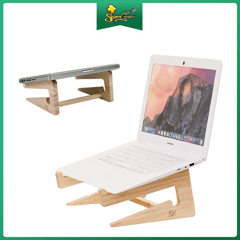Giá đỡ laptop, kệ laptop tản nhiệt tự nhiên bằng gỗ