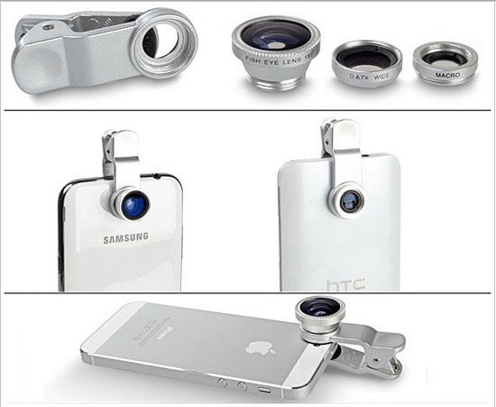 Bộ 3 Lens Chụp Hình Dành Cho Điện Thoại, Máy Tính Bảng