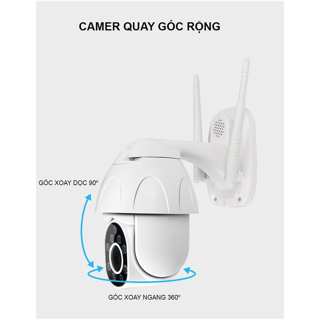Camera IP Yoosee Ngoài Trời PTZ2 FullHD Tiếng Việt - Xoay 360 Kèm Thẻ 32 Gb Cao Cấp