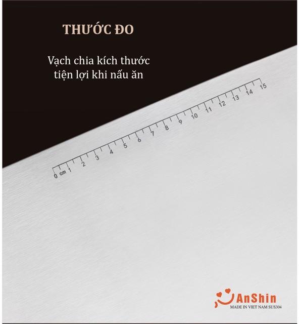 Thớt Inox 304 AnShin kháng khuẩn Chính Hãng  Cao Cấp