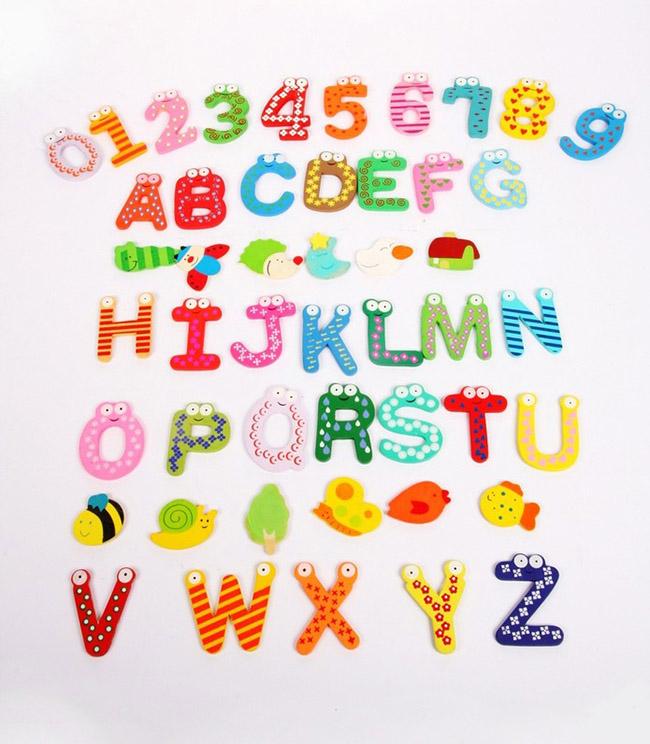 Bộ chữ số nam châm dạy học cho bé