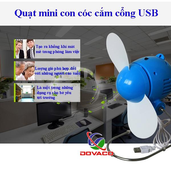 Quạt Con Cóc Mini Cắm Cổng USB Cao Cấp