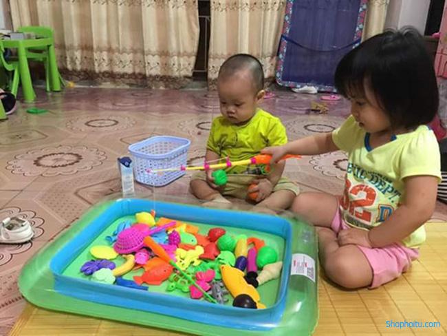 Bộ bể phao câu cá cho bé