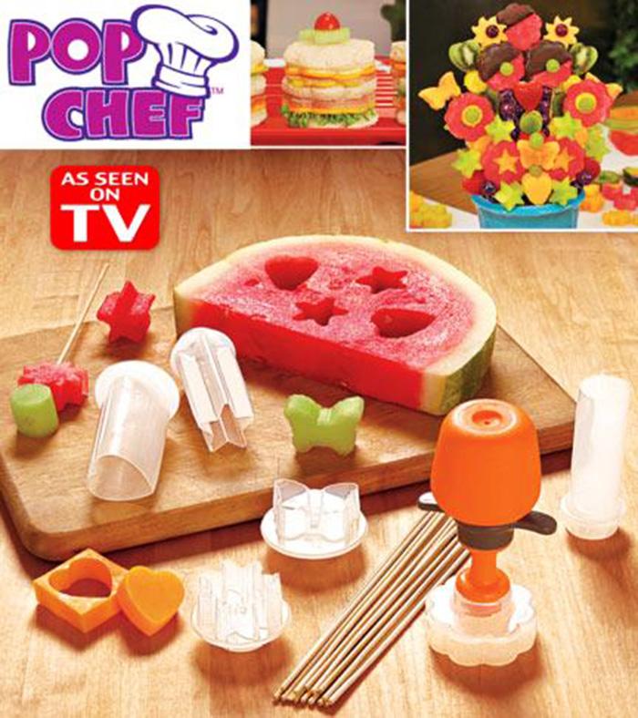 bộ khuôn cắt trái cây pop chef