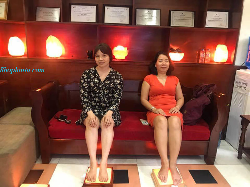 Đèn Đá Muối Massage Chân Himalaya