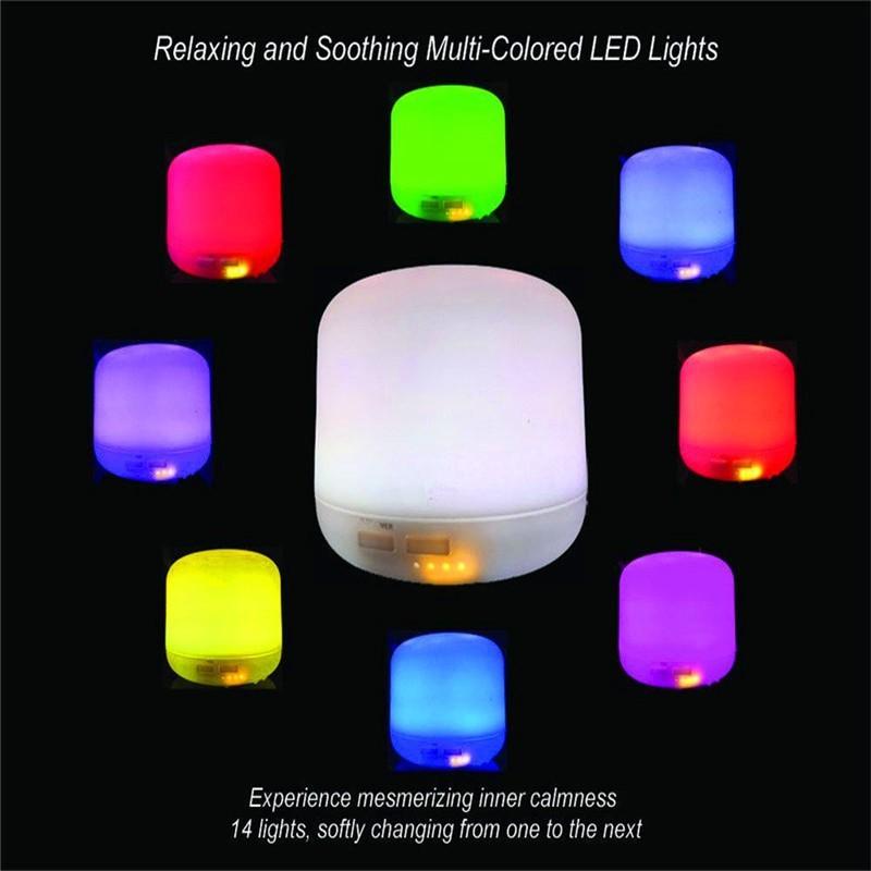 Máy Khuếch Tán Tinh Dầu Siêu Âm Loại Lớn Có Đèn LED Đổi Màu
