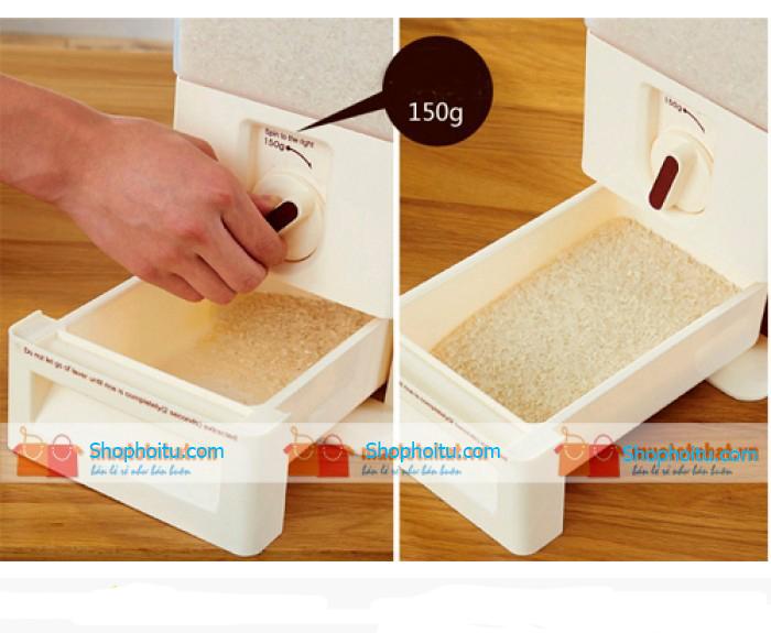 Thùng đựng gạo thông minh 15kg