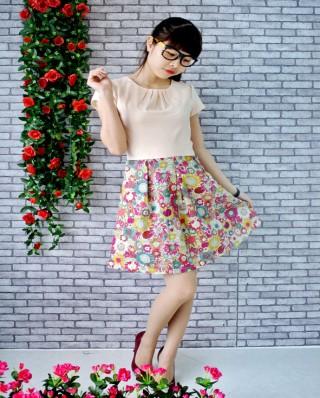 Đầm váy chân hoa trẻ trung