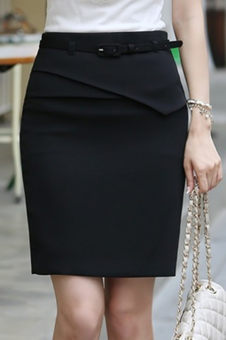 Chân váy công sở viền cách điệu thời trang