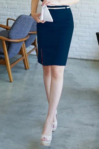 Chân váy xẻ tà trước