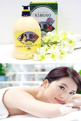 Sữa tắm trắng da kimono cao cấp