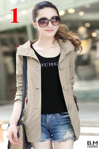 Áo Khoác Kaki Nữ Style Hàn Quốc