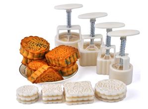 Bộ khuôn làm bánh Trung thu (100g)