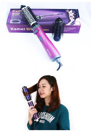 Lược điện sấy xoay 360 độ Kemei-KM8000