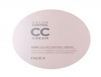 CC Cream Face It Aura Color Control Cream The Face Shop