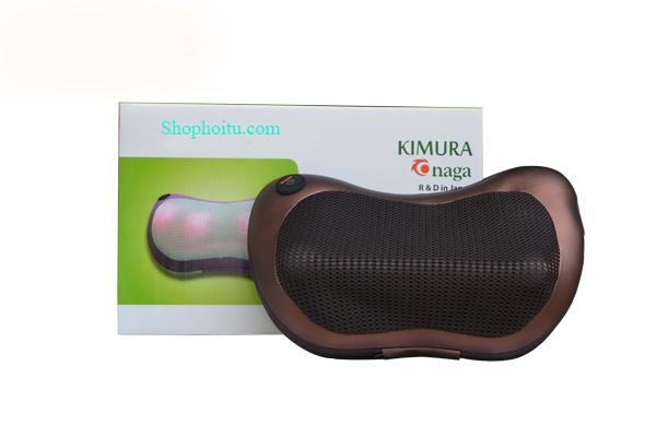 Gối massage hồng ngoại Kimura Onaga 6 bi