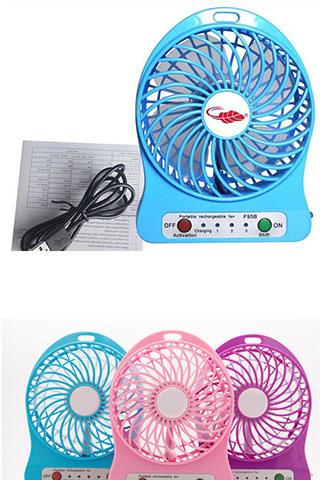 Quạt Sạc Tích Điện USB Mini Fan Tiện Dụng