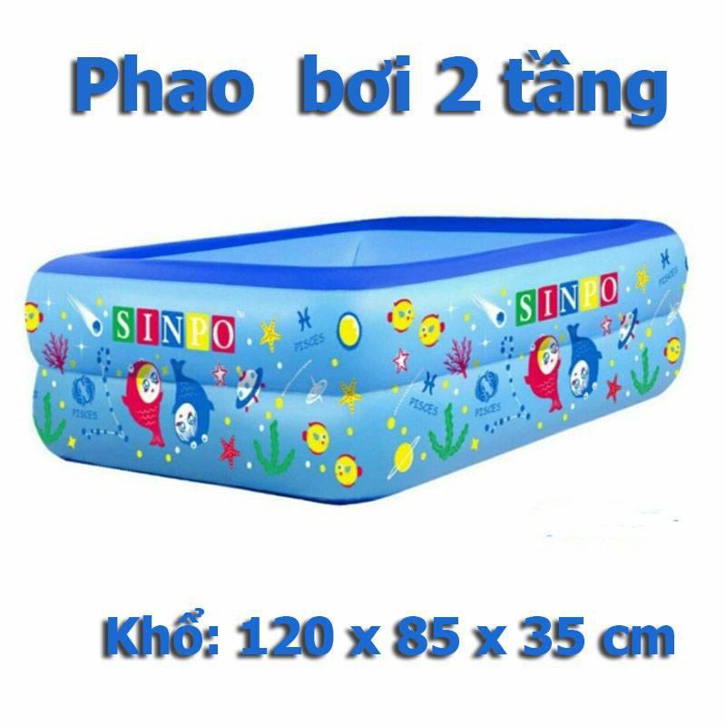 BỂ BƠI PHAO BƠI CHỮ NHẬT 2 TẦNG 1,2M
