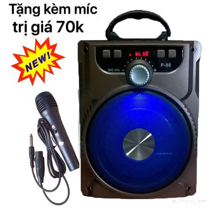 Loa Kéo Bluetooth P88 P89 - Loa Xách Tay KIOMIC Tặng Micro Hát Karaoke Cực Hay