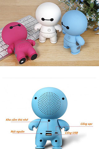 LOA BLUETOOTH ROBOT MINI A9 BIG HERO SPEAKER