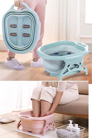 Chậu ngâm chân massage gấp gọn Tiện Dụng