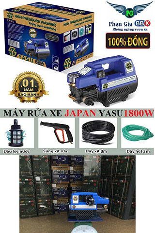 Máy rửa xe Mini JASU 1800W Nhật Bản Cao Cấp