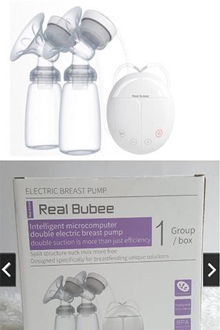 Máy hút sữa điện đôi Real Bubee Massage Cao Cấp