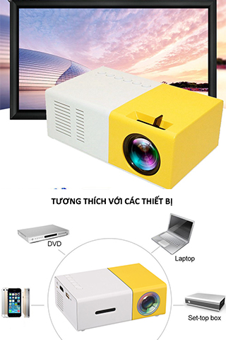 Máy chiếu mini YG-300 Smart LED Projector Full HD 1080p