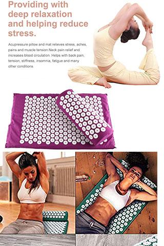 Thảm + Gối Massage Bấm Huyệt Cao Cấp