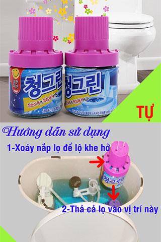 Lọ Thả Bồn Cầu Khử Mùi Hàn Quốc Chính Hãng