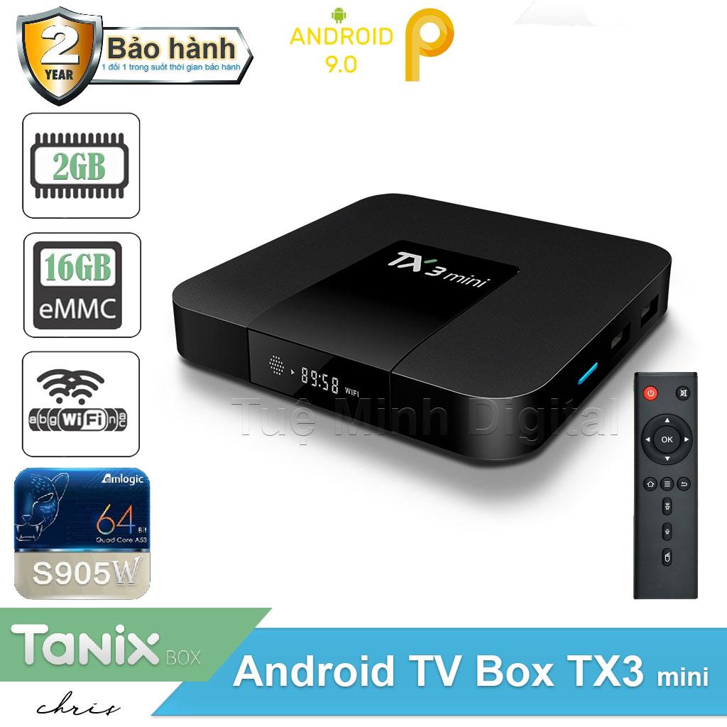 Android Tivi Box TX3 mini - 2G Ram và 16G  Bluetooth, AndroidTV 9 Cao Cấp