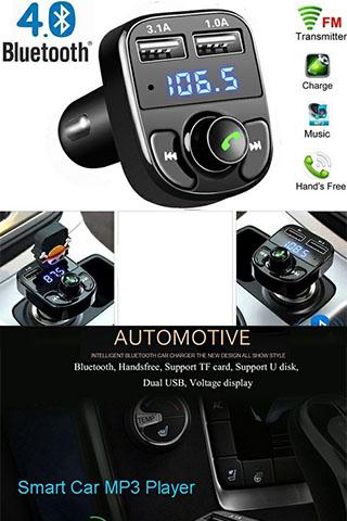 Tẩu Nghe Nhạc Bluetooth X8 Trên Xe Hơi Cao Cấp