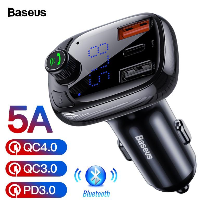 Tẩu Sạc Baseus Bluetooth 5.0 Tốc Độ Nhanh 3.0 Cao Cấp