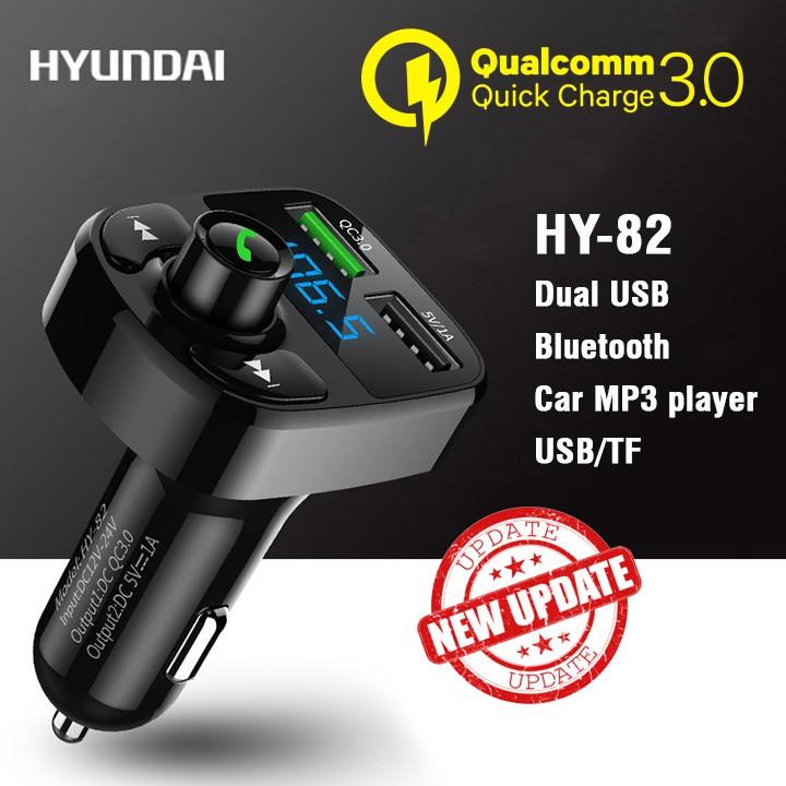 Tẩu Sạc Nhanh Hyundai HY-82 Bluetooth Nghe Nhạc Cao Cấp