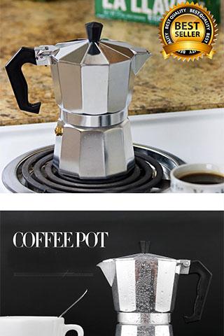 Ấm, Bình Pha Cà Phê Moka Espresso  Kiểu Ý Cao Cấp