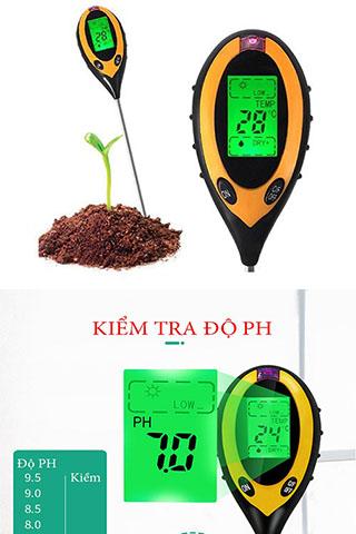 Máy Đo Độ PH đất 4 trong 1(PH, độ ẩm, ánh sáng, nhiệt độ) Cao Cấp