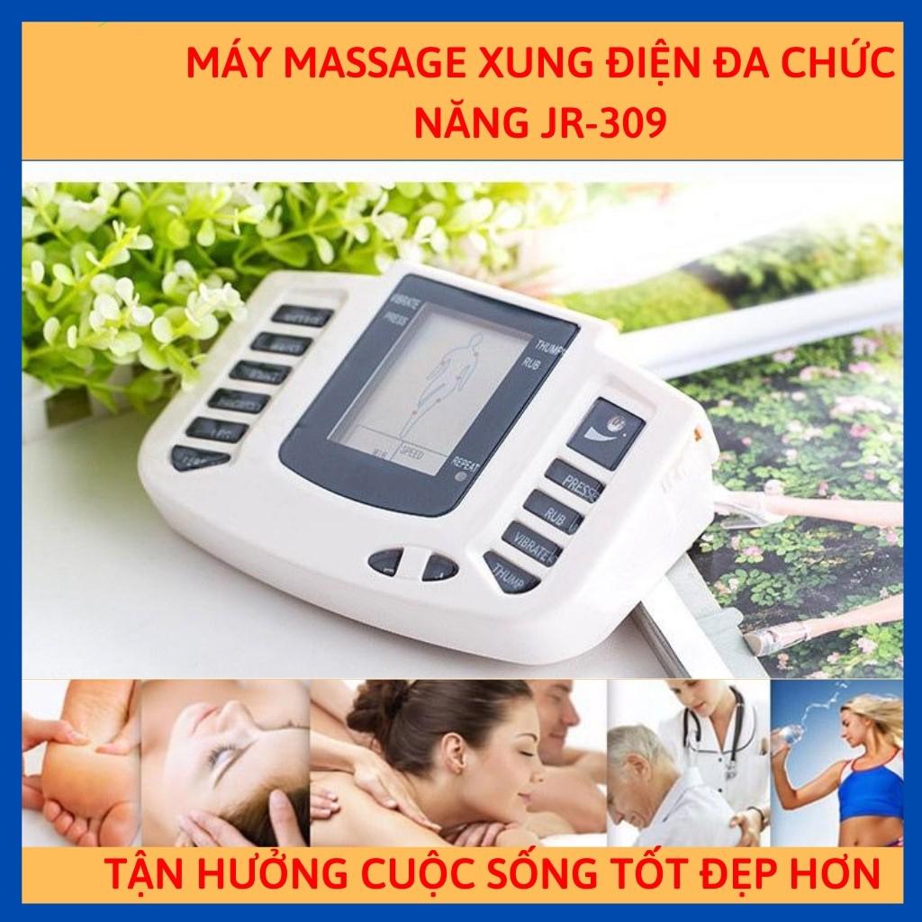 Máy massage body xung điện 16 miếng dán và dép massage cao cấp