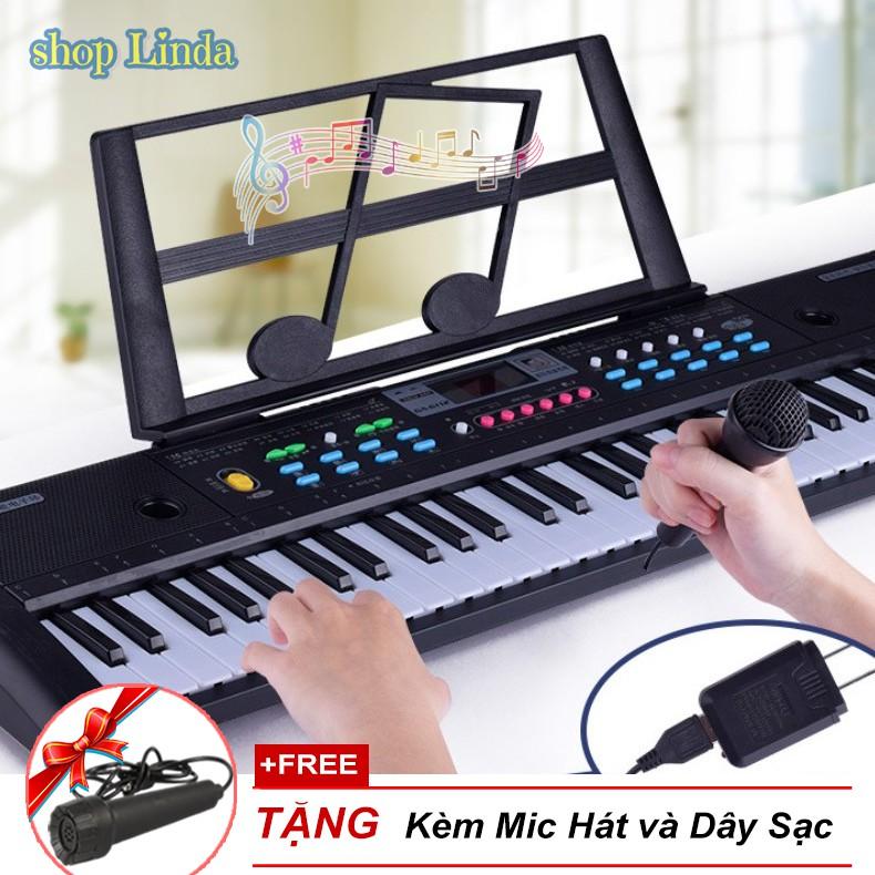 Đàn Organ Đàn Piano cho bé 61 phím Keyboard tặng kèm míc Cao Cấp