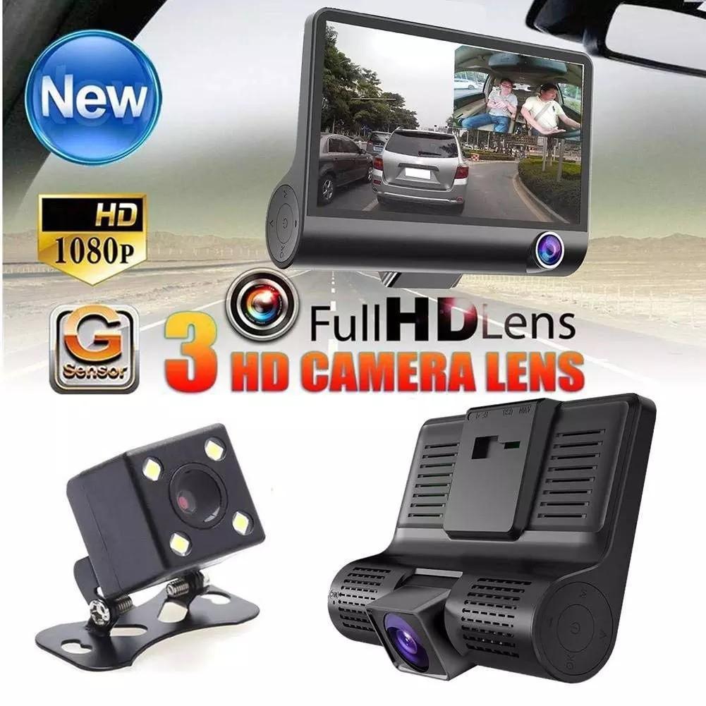 Camera hành trình ô tô 3 mắt 4 inh full HD Kèm Thẻ Nhớ 32gb Cao Cấp