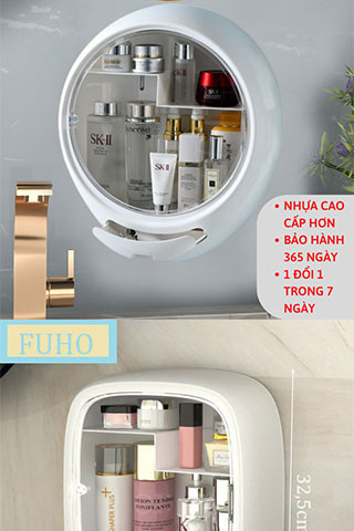 Kệ đựng mỹ phẩm nhà tắm treo tường FUHO Cao Cấp