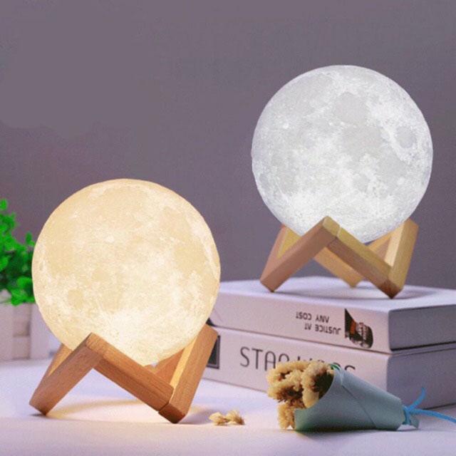 Đèn Ngủ Mặt Trăng size 12cm 15 cm 18cm có điều khiển Cao Cấp
