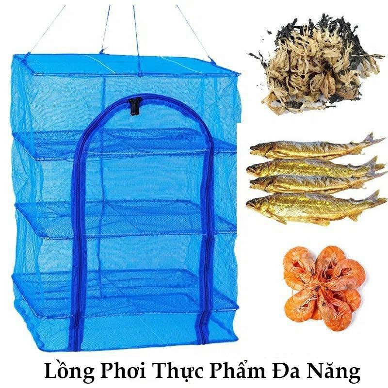 Lồng Phơi Thực Phẩm, Phơi Cá Khô Chống Ruồi Muỗi, Côn Trùng Bằng Lưới PE Tiện Lợi