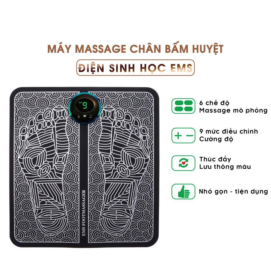 Máy Massage Chân Mô Phỏng Cơ EMS Giảm Đau Mỏi Thông Minh