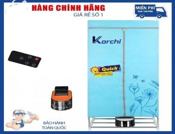 TỦ SẤY QUẦN ÁO KORCHI KC-668 Có Điều Khiển Diệt Khuẩn Cao Cấp